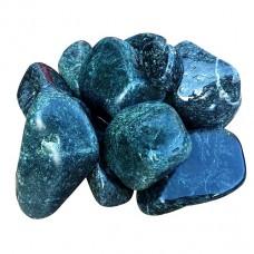 Камень серпентинит шлифованный (8-15 см) мешок 20 кг для электрокаменки