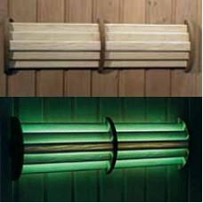 Светильник LED 54 светодиодный цветной с пультом ДУ для бани и сауны